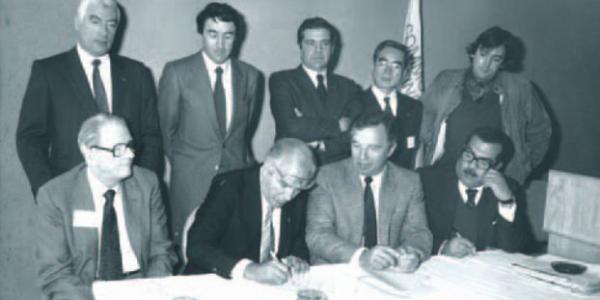 Firma oficial de la creación de Metropolis, 1958